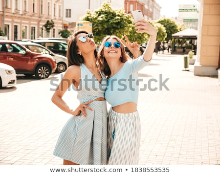 Stockfoto: Photo Of Sexy Blonde Woman Posing On Summer Day