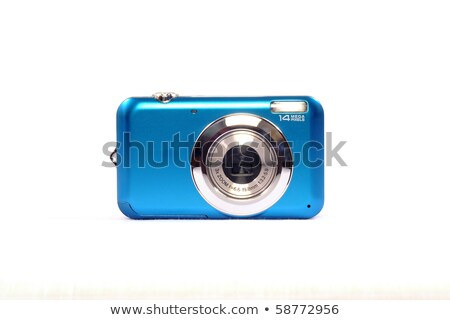 Blue digital camera Stock photo © magraphics