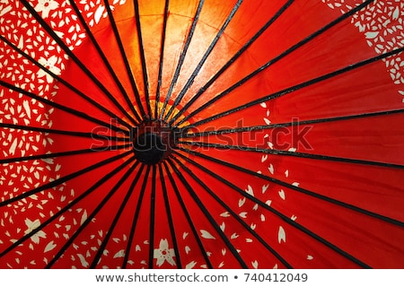 Colorful Paper Handcrafted Umbrellas China Stock photo © billperry