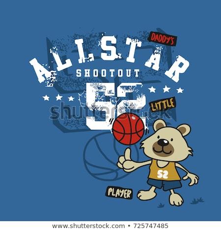 Cartoon bear basketball player Stock photo © Thodoris_Tibilis