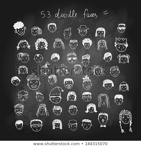 drawing faces by a chalk stock photo © romvo