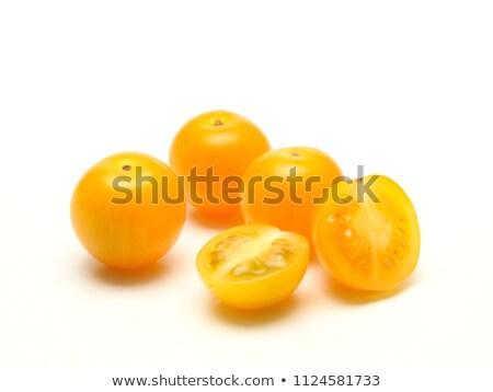 isolated yellow cherry tomato Stock photo © M-studio