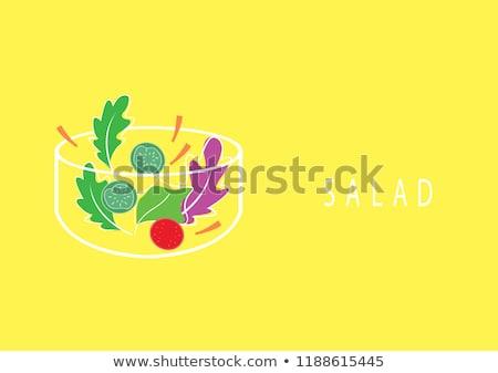 ボウル トマト サラダボウル サラダ トウモロコシ ランチ ストックフォト © M-studio