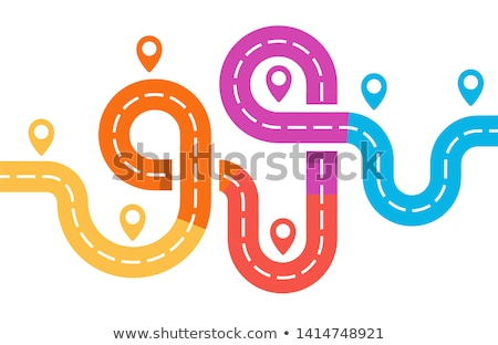 Vector illustration of maze junction Stock photo © leonido