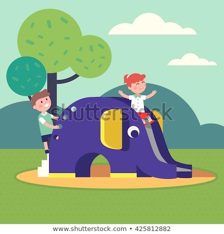 象 旅行 動物 遊び場 運動 アイコン ストックフォト © zzve