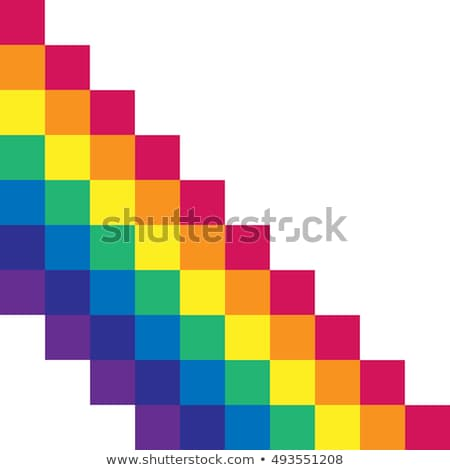 Gay Flag Equal Striped Sticker Stock photo © gubh83