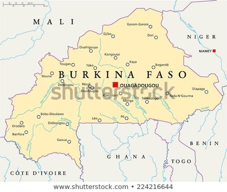 Africa map with Burkina Faso Stock photo © Ustofre9