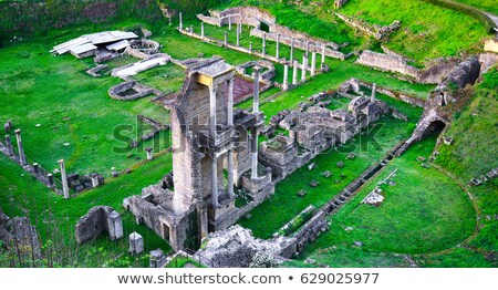 roman theatre of volterra italy stock photo © aladin66