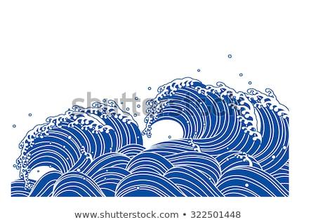 tsunami · uyarı · kırmızı · beyaz · doğa - stok fotoğraf © meinzahn