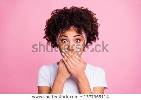隠蔽 女性 女性 顔 セクシー 美 ストックフォト © Alegria111