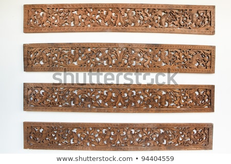 Bali Wood Carved doors Stock photo © photosoup