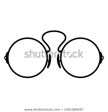 bağbozumu · antika · gözlük · yalıtılmış · beyaz · çerçeve - stok fotoğraf © reddaxluma