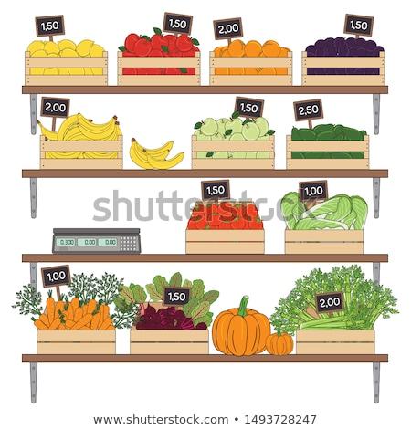 avokado · gıda · pazar · meyve · taze · satın · almak - stok fotoğraf © Catuncia