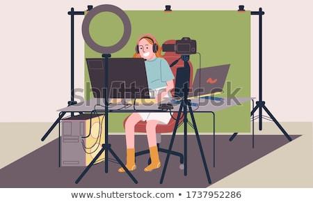 Video licht werk technologie achtergrond Stockfoto © janaka