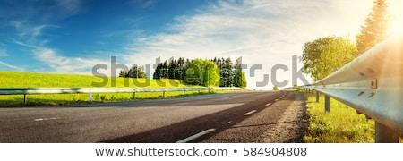 Lege weg zonlicht blauwe hemel bestemming platteland Stockfoto © juniart