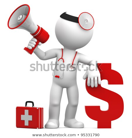Doctor with megaphone and Dollar currency sign Stock photo © Kirill_M