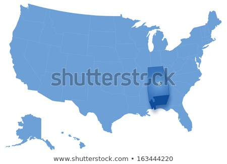 Map of States of the United States where Alabama is pulled out Stock photo © Istanbul2009