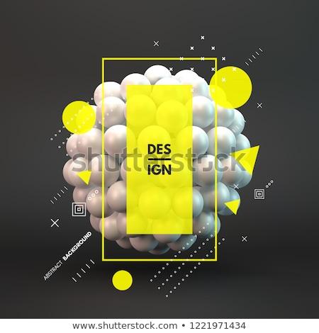 3D · moléculas · água · 3d · render · ilustração · modelo - foto stock © make