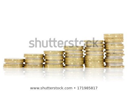 rising silver and gold coins stairs stock photo © grazvydas