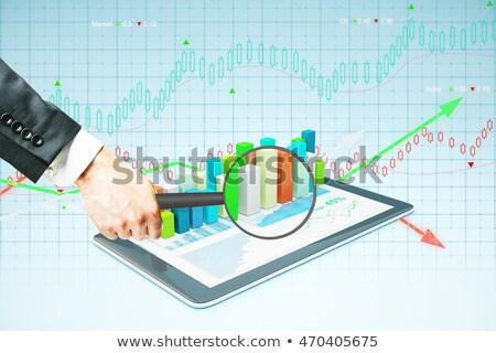 empresário · mão · lupa · tecnologia - foto stock © dolgachov