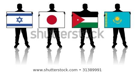 Israël vlag man banner team Stockfoto © stevanovicigor