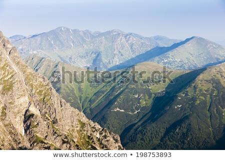 dağlar · manzara · tabelasını · fırtınalı · kadın · bahar - stok fotoğraf © phbcz