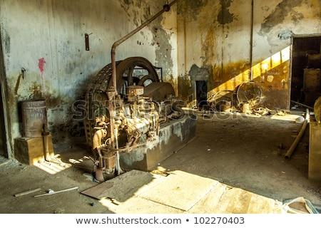 Rozsdás gép öreg rohadt finomító állomás Stock fotó © meinzahn