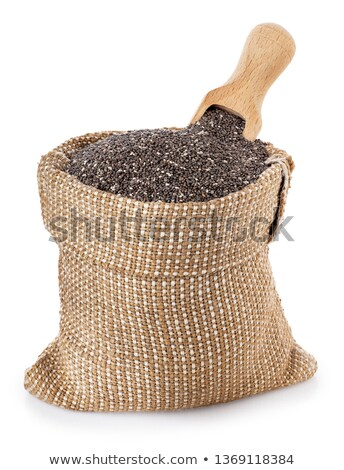 Chia on burlap Stock photo © FOTOYOU