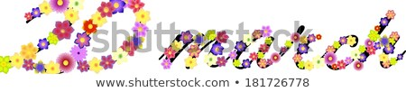 Data primeiro dia primavera flores fundo Foto stock © impresja26