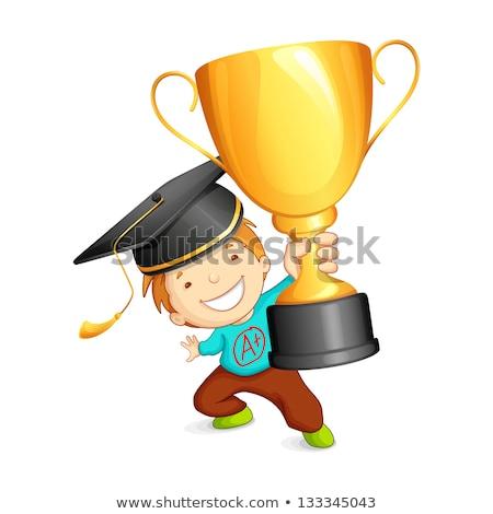 бакалавр золото трофей изолированный школы Сток-фото © Kirill_M