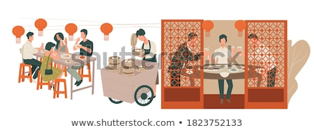 Chinese Food: Toasted Dumplings Stock photo © bbbar