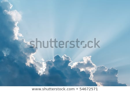 Sun Burst Surreal Sun Rays With Cloud Foto stock © pashabo