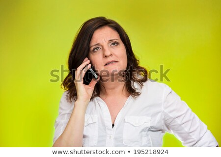 Girl Hold Call. Poor Customer Service  Stock photo © HASLOO