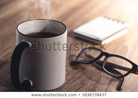 tea time background with text Stock photo © Elmiko