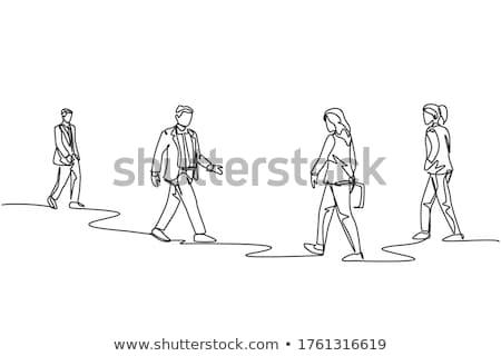 male and female road sign illustration design over white stock photo © alexmillos