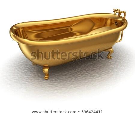 Golden bathtub Stock photo © Koufax73