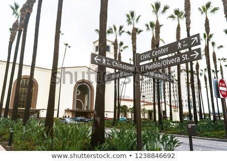 street sign Orange Drive  in Hollywood Stock photo © meinzahn