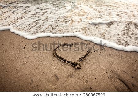 символический · сердце · песок · можете · используемый · морем - Сток-фото © lightpoet