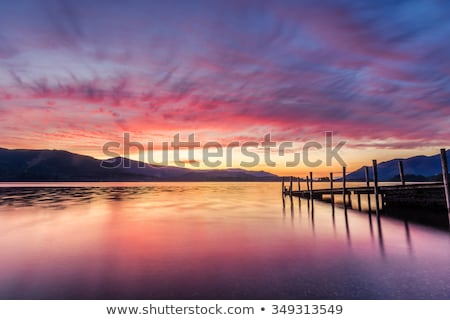 Derwentwater Lake District calm water Stock photo © backyardproductions