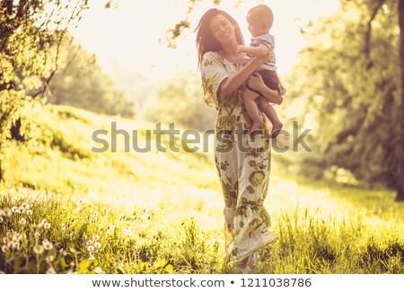 мальчика · дерево · древесины · лес · ребенка · молодежи - Сток-фото © bmonteny