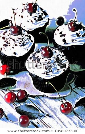 Taze kahve arka plan tatlı Stok fotoğraf © neillangan