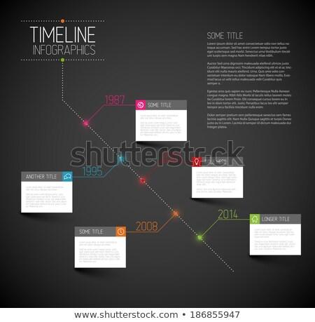 Sötét infografika átló idővonal jelentés sablon Stock fotó © orson