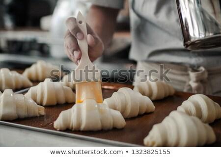 croissants · tabela · bolo · jantar · café · da · manhã - foto stock © melpomene