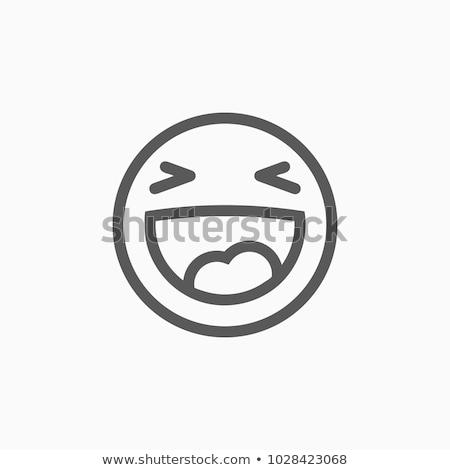 笑い アイコン 顔 異なる ストックフォト © bruno1998