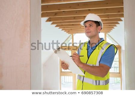 Bina bakıyor yeni özellik ev inşaat Stok fotoğraf © HighwayStarz
