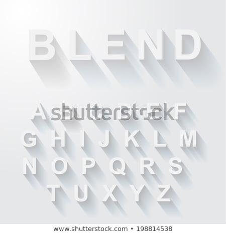 classic alphabet with modern long shadow effect stock photo © davidarts