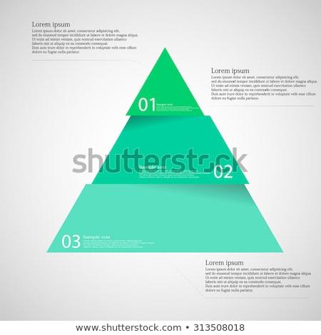 Pyramid infographic design Stock photo © m_pavlov