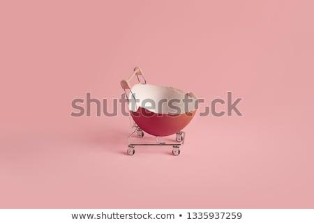 Корзина пасхальных яиц миниатюрный три изолированный Сток-фото © kimmit