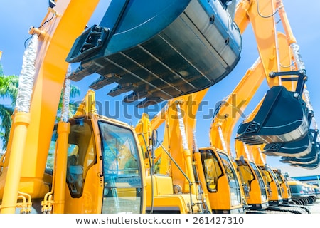 Shovel excavator on Asian  rental company site Stock photo © Kzenon