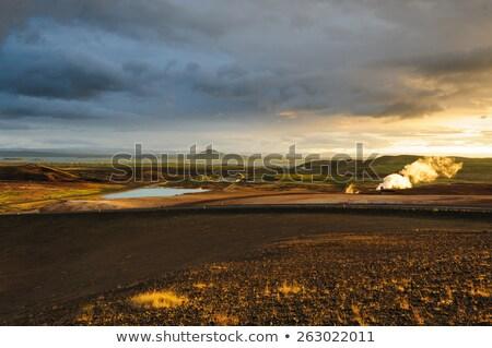 вечер мнение лава области Исландия сцена Сток-фото © 1Tomm